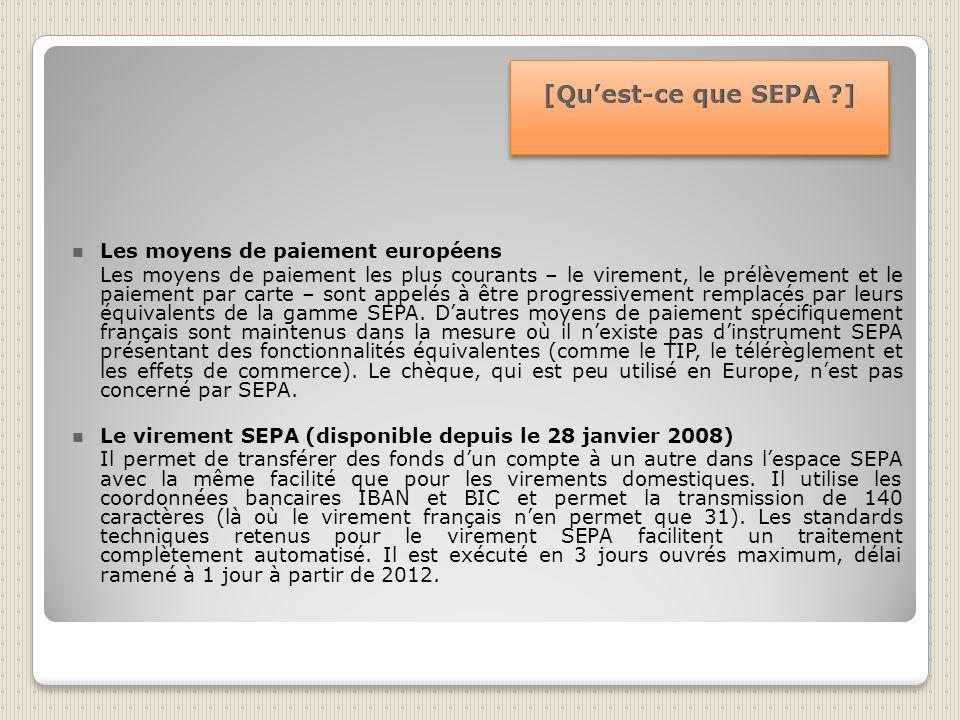 [Qu'est-ce que SEPA ] Les moyens de paiement européens